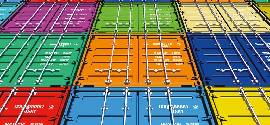 contenedores de mercancía
